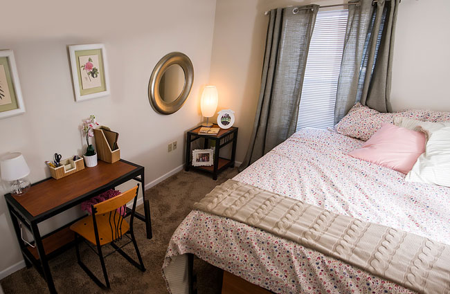 A Bedroom at Falcon's Pointe Apartments